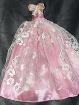 Vintage Handmade Princess Pink White Lace Formal - $49.50