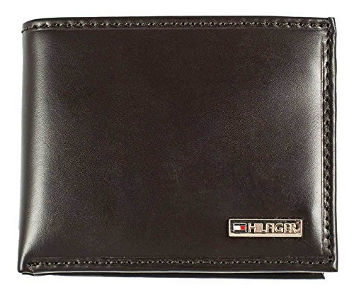 Tommy Hilfiger Leather Men's Multi-Card Passcase Bifold Wallet, Brown, One Size