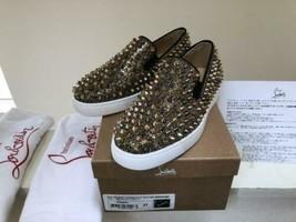 Christian Louboutin Stachel Slipper Sneakers Flache Schuhe Damen Eu 37 V... - $1,143.08