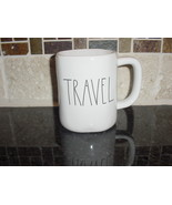 Rae Dunn TRAVEL Mug, Ivory with Black Lettering - $12.00