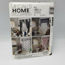 6609 McCalls Sewing Pattern Bathroom Essentials Shower Curtain Toilet Co... - $9.50