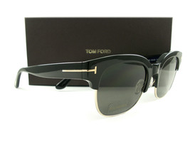 Tom Ford Sunglasses TF597 Harry-02 Black Gray Polarized 01D FT0597/S New - $245.00