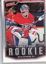 2007-08 CAREY PRICE UPPER DECK VICTORY ROOKIE CARD - $15.99