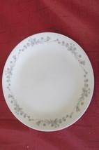 """Corelle Corningware  Gray Flowered 10 1/4"""" Dinner Plate 5 - $15.00"""