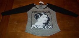 "WOMEN'S TEEN STAR WARS PRINCESS LEIA ""Don't Call Me Princess"" T-shirt XS... - $19.80"