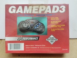 NEW 3 Button Controller Gamepad With Slow + Turbo + Joystick for Sega Ge... - $16.78