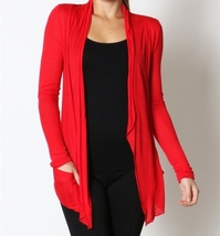 Lightweight Cardigan, Lightweight Summer Cardigans, Lightweight Cardigans, Red