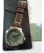 Brand New Grant Brown Aeronautic  9415C Mens Watch Brown Leather Green face - $82.32
