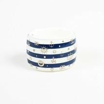Chanel 2010 Striped Resin Faux Pearl 'CC' Bangle Bracelet - $905.00