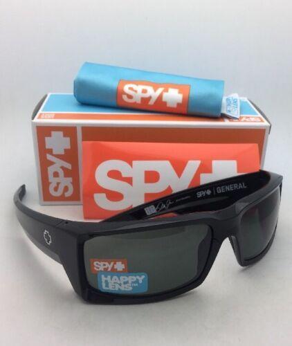 Neuf Spy Optic Lunettes de Soleil Général Noir Brillant Monture avec Happy