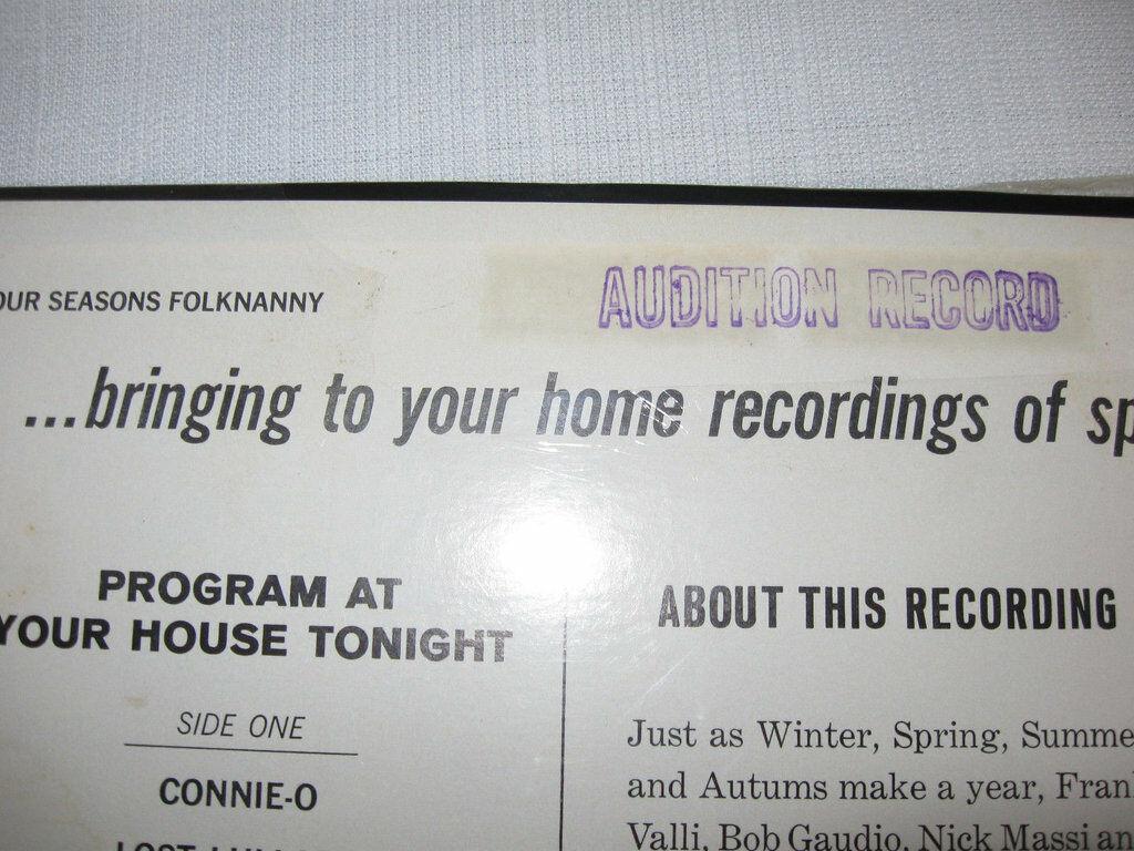 Four Seasons Folk Nanny Vee Jay VJ LP 1082 Stereo Sealed ULTRA RARE PROMO COPY