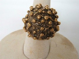 Vintage Pentti Sarpaneva Bronze Ring Modernist Adjustable Organic Dome Finland - $96.03