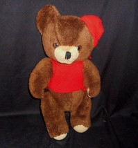 "16"" VINTAGE COMMONWEALTH BROWN JOINTED TEDDY BEAR STUFFED ANIMAL PLUSH O... - $27.12"
