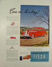 1940 PACKARD Super-8 160 One-Sixty Touring Sedan Come on...Be King Print Ad - $9.99