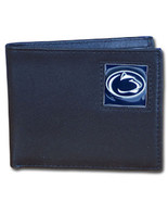 penn state nittany lions logo college ncaa leather bi-fold wallet usa made - $31.58