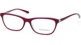 New Tiffany & Co. Tf 2078 8167 Red Eyeglasses Frame 55-16-140 B34 Italy - $133.64