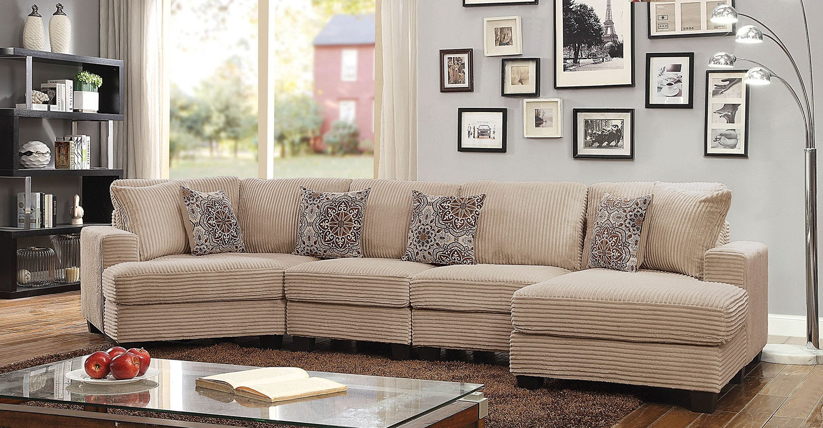 Nuremberg Transitional Style Sectional Couch And 50 Similar