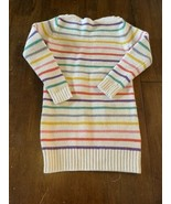 GAP Kids Knit Rainbow Striped Sweater Dress with Button Shoulders Girl's... - $19.79