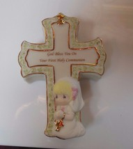 Precious Moments God Bless You On Your First Holy Communion Cross Trinke... - $21.77