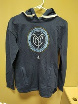New Adidas MLS New York FC Navy Sweatshirt Hoodie Ladies Sz Small B486W - $19.00