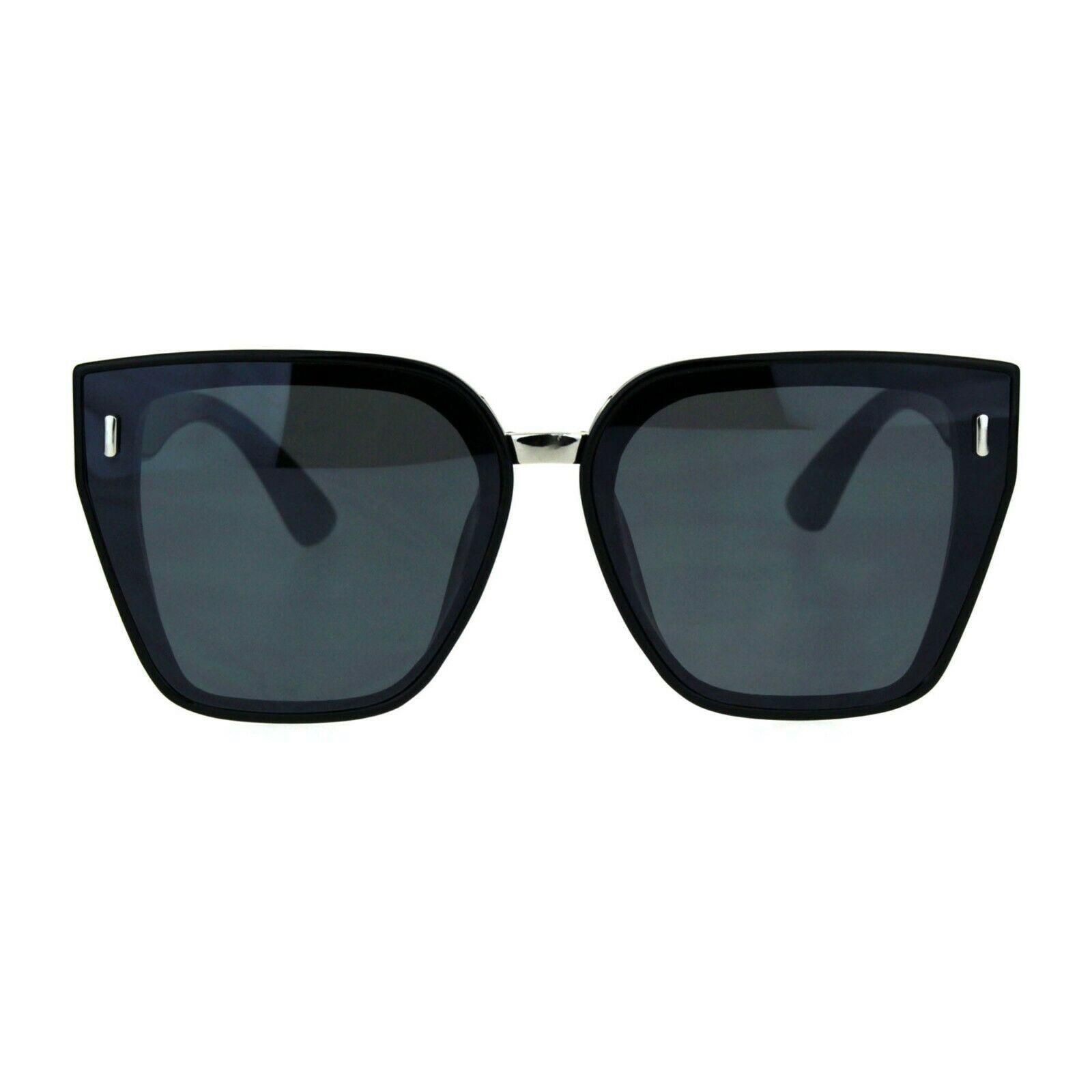 Womens Designer Style Sunglasses Oversized Trapezoid Frame UV 400