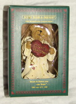 Boyds Country Christmas Angel Ornament Merry Angelbeary Teddy Bear in Bo... - $9.99