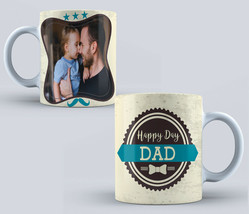 Personalised Fathers Day Mug add your text your own photo Fathers Granda... - $12.74