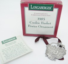 Longaberger 1985 Cookie Basket Pewter Ornament Gingerbread Men w Box Chr... - $14.84