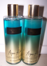 2 Victoria's Secret Aqua Kiss Fragrant Body Wash - Kiwi, Jasmine, Driftw... - $22.50