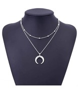 TOMTOSH 2017 New Fashion Double Horn Necklace Crescent Moon Necklace Boh... - $6.88 CAD