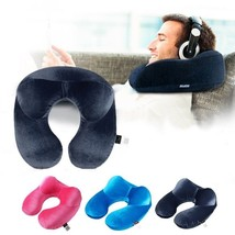 Comfortable Travel Pillow for Airplane Inflatable Neck Pillow Travel Acc... - $9.49