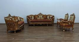 3 Piece European Furniture St. Germain Red & Gold Sofa Set - $12,994.00