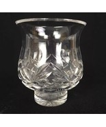 "Waterford Ireland Crystal Cut Glass Footed Vase Hearts Cutting 5-1/4"" Tall - $42.08"