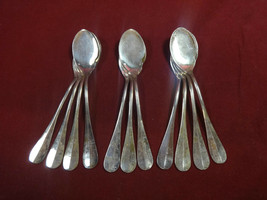 "11 Vintage French Silverplate 7 3/4"" Melon Spoons in Rattail Pattern - $295.00"
