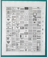 FLAGS of Naval Powers USA UK China Turkey Russia Italy Spain - 1844 Supe... - $30.60