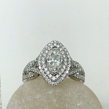 Marquise Cut Diamond Engagement Ring 14k White Gold (1.83 TCW) - $3,652.11