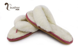 Luxury Womens Flip Flop Slippers - Ladies Genuine Sheepskin Leather Flip... - £33.47 GBP