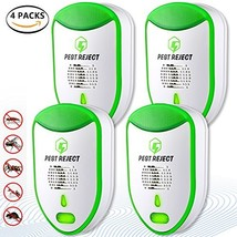 Ultrasonic Pest Repeller Electronic Pest Control [2018 UPGRADED] 4 pack ... - $37.59