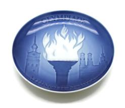 1972 Bing & Grondahl Munich Olympic Games Blue White Collector Plate U22 - $17.80