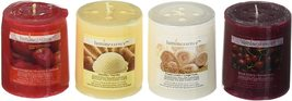 Luminessence Assorted Scented Pillar Candles, 4 Pillar Candles - Vanilla... - $23.00+