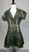 Commando Camon Cutie Camouflage Adult Halloween Party Costume Womens Siz... - $7.92