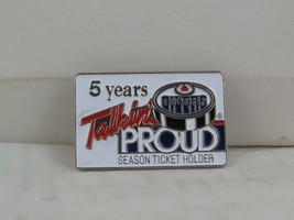 Edmonton Oilers Pin - 5 Year Season Ticket Holder - Stamped Pin - $15.00