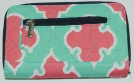 NGIL OTP517NY Quilted Geometric Pattern Microfiber Bifold Wallet image 2