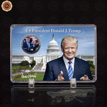 WR US Donald Trump & Senator Silver Coin with Display Holder Presents fo... - $9.50