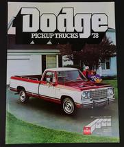 Vintage 1978 Dodge Pickup Trucks Car Sales Brochure 15 pages - $12.82