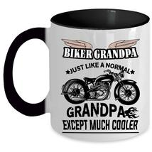 Cool Gift For Grandpa Coffee Mug, Biker Grandpa Accent Mug - $19.99+
