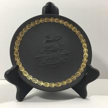 Rare MOTHER (w Cherubim) Wedgwood Black with Cane Colored Jasper (1971) - $34.60