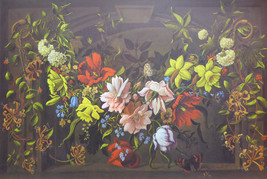 Flowers in the Window - Marie Elaine D'Sena - (Genuine and Vintage) - Po... - $40.00