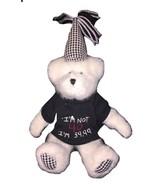 Boyds Bear 40th Birthday Party White Teddy Bear Plush Stuffed Animal Stu... - $29.99