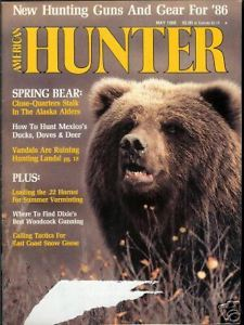 Primary image for American Hunter May 1986 Magazine